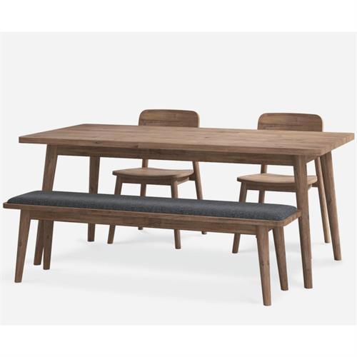 北欧简约实木食堂桌椅采购-东莞企业食堂家具生产厂家