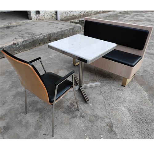 企业单位大理石不锈钢高档食堂桌椅家具