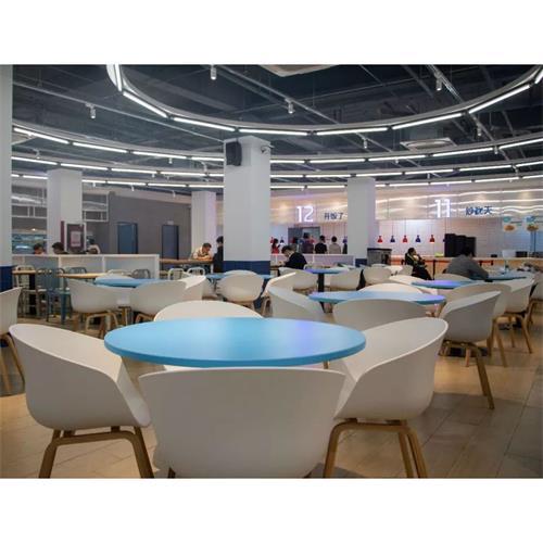 学校食堂员工餐厅桌椅_学生食堂家具