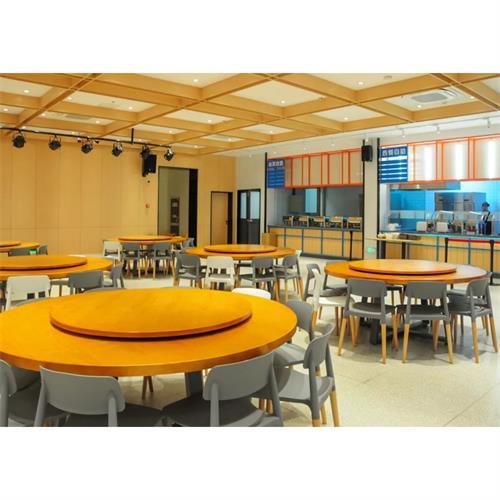 企业单位职工饭堂餐桌椅_公司食堂圆桌