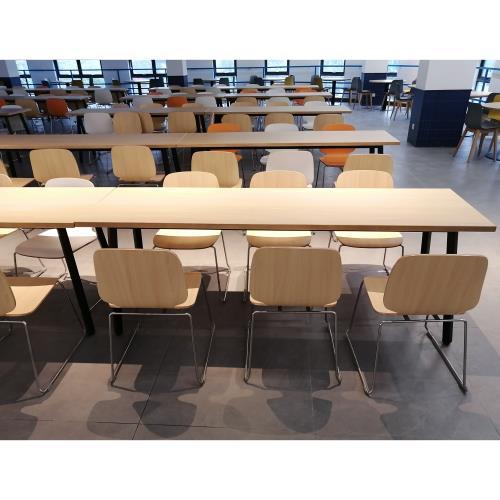 学生食堂高档食堂桌椅_学校食堂餐桌餐椅