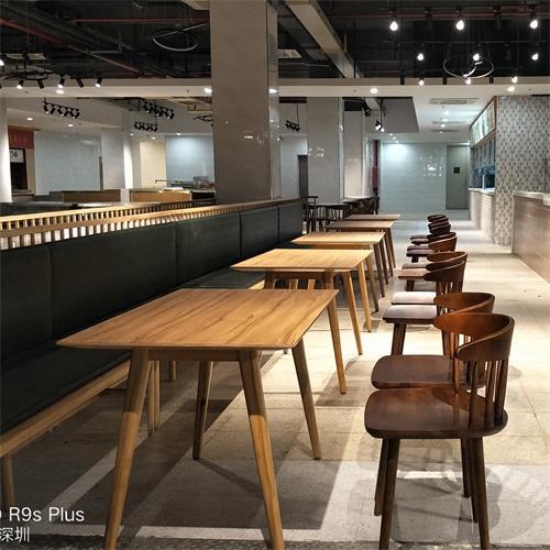 学生食堂实木餐桌_学校食堂专用餐桌