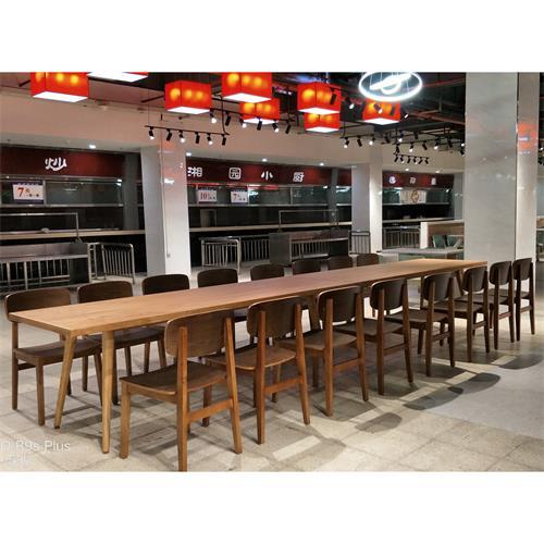 公司饭堂餐桌_企业单位员工餐厅食堂桌子