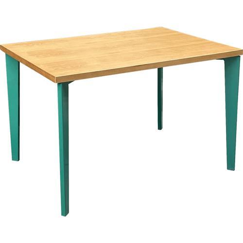 工厂食堂4人坐实木桌椅_职工食堂餐桌