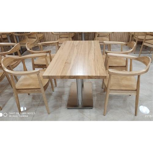 学校食堂专用餐桌椅_中式实木食堂餐桌椅