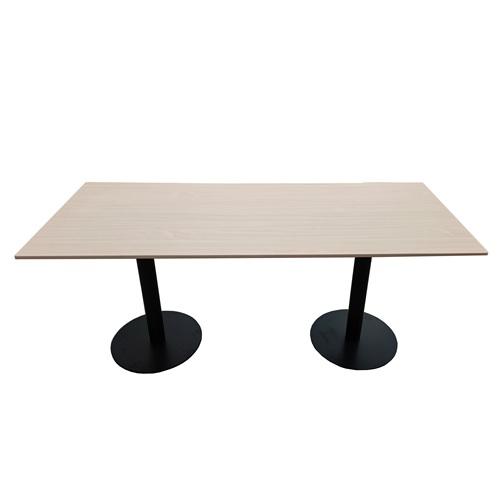 企业食堂六人位桌子_公司饭堂实木桌椅