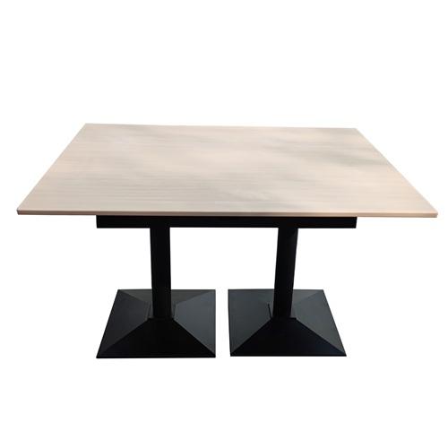 公司员工食堂4人位简易铁艺餐桌