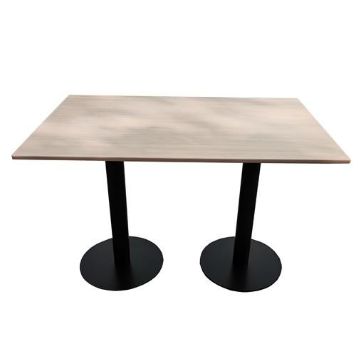 机关单位田园风铁艺实木餐桌