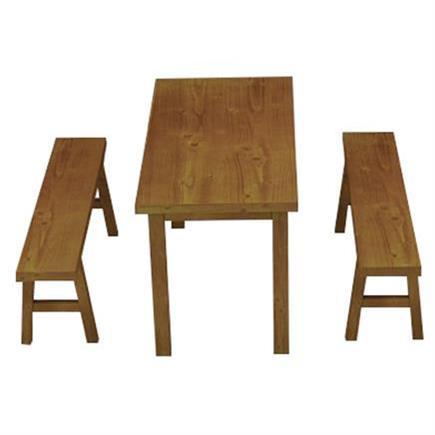 食堂4人位实木餐桌