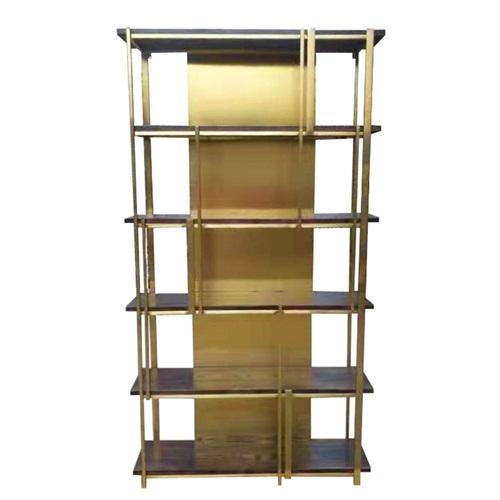 现代中式图书馆不锈钢书架_不锈钢书架设计定制
