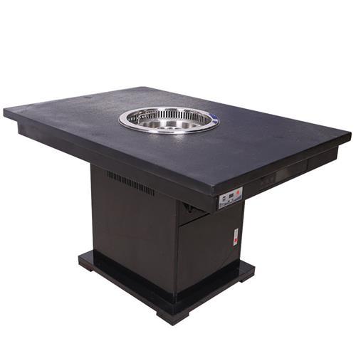 不锈钢无烟木炭烧烤桌_木炭自助烧烤桌