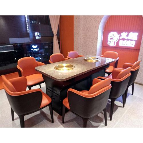 韩式无烟电烧烤桌_烤肉店无烟净化桌