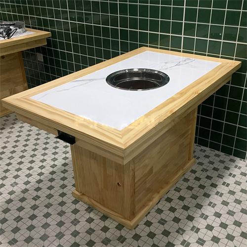 火锅店新中式带电磁炉火锅餐桌