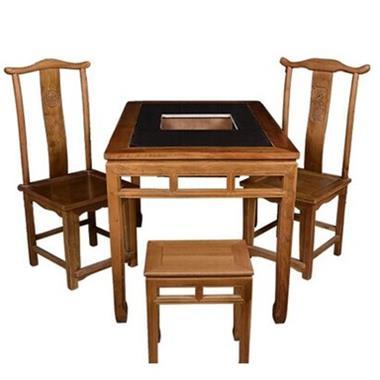 老榆木仿古明清火锅桌椅