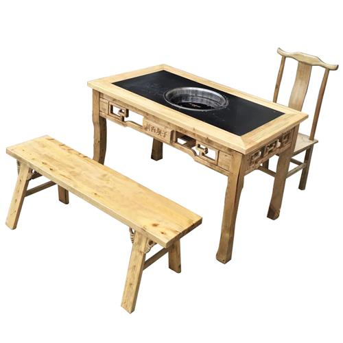 川西坝子四川老火锅实木火锅桌