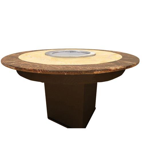 多人位无烟火锅桌智能无烟净化火锅桌