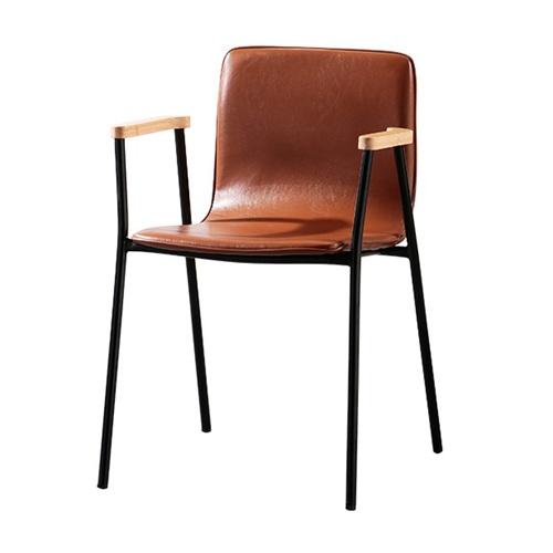 美式西餐厅铁艺时尚金属靠背椅