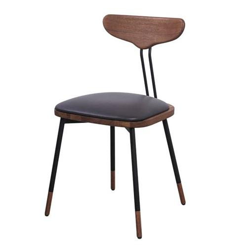 美式古典简约金属实木椅