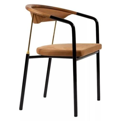 西餐厅咖啡厅休闲极简金属餐椅