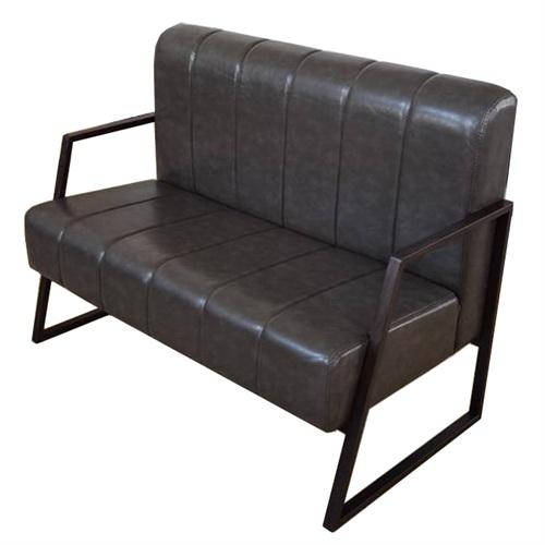 高档西餐厅现代铁艺卡座沙发
