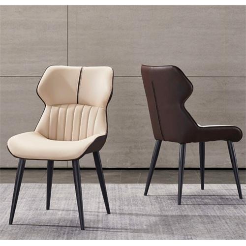 高档西餐厅皮革软包靠背椅子