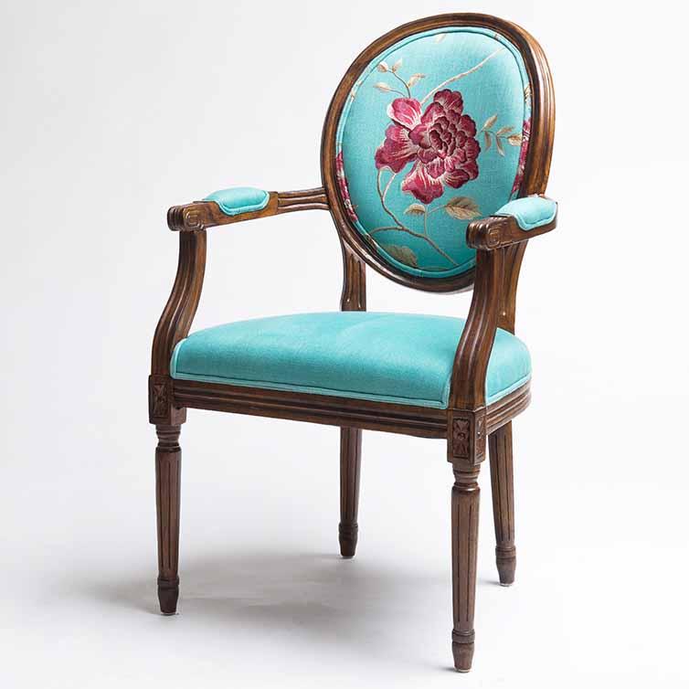 美式实木西餐厅餐椅_复古西餐椅子-厂家定做