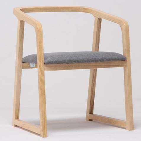 简约实木软包西餐厅椅子 美式乡村休闲西餐椅