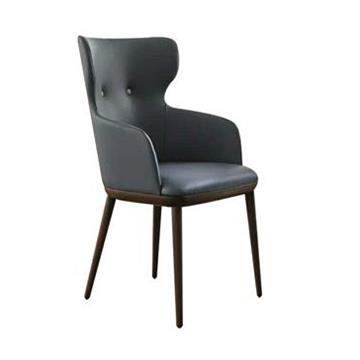 北欧简约实木咖啡厅休闲椅