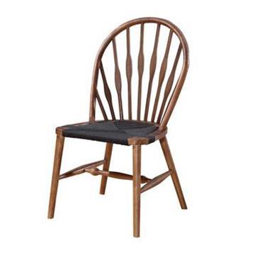 实木孔雀椅 北欧简约休闲西餐厅水曲柳椅
