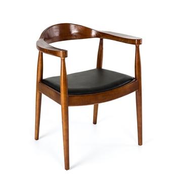 现代简约肯尼迪总统西餐实木椅-西餐厅椅子厂家定制直销