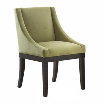 实木布艺软包餐椅 简约现代西餐椅子