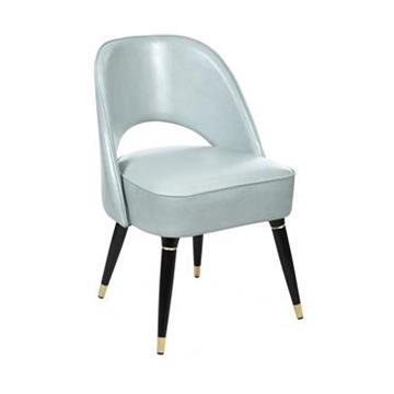 北欧美式皮艺实木餐椅 西餐椅