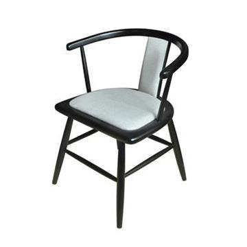 时尚餐厅扶手靠背实木休闲西餐椅