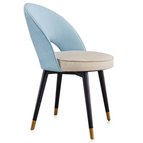 北欧轻奢简约现代布艺餐椅时尚后现代单人西餐椅