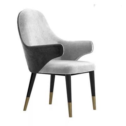 美式轻奢餐椅时尚西餐厅咖啡厅休闲扶手椅