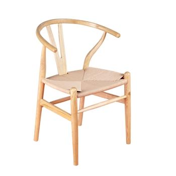 北欧原木色进口实木Y型西餐椅-厂家定制批发