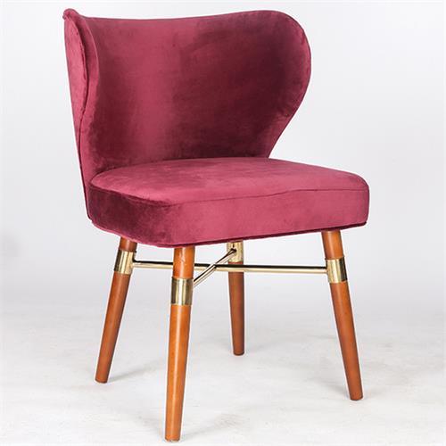 北欧实木餐椅西餐厅休闲创意皮艺椅子