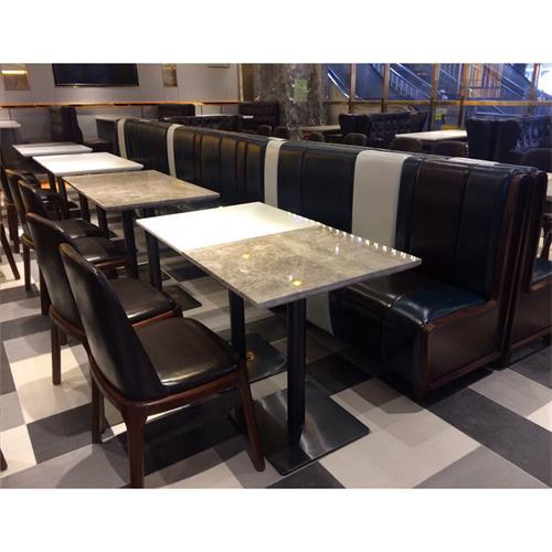 西餐厅2人位大理石餐桌-厂家批发直销