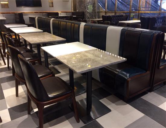 西餐厅2人位大理石餐桌