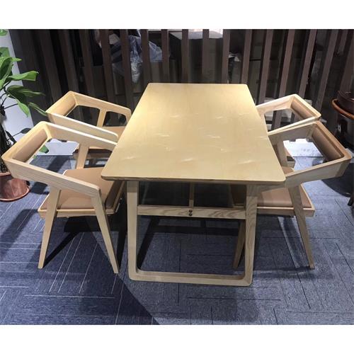 北欧全实木餐桌椅组合西餐厅休闲桌椅-厂家定做批发