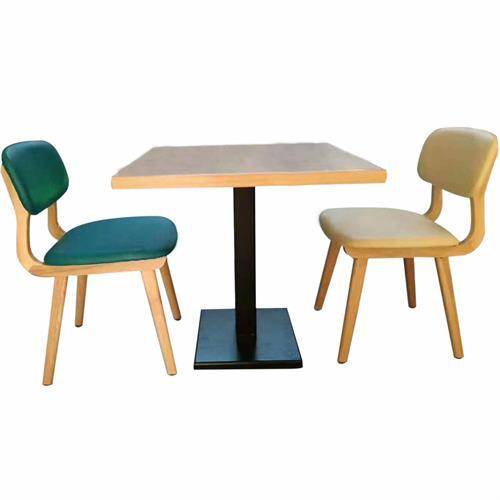 铁艺桌脚实木台面北欧风格西餐厅桌椅