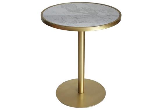 时尚西餐厅桌椅-奶茶店大理石不锈钢yabo娱乐
