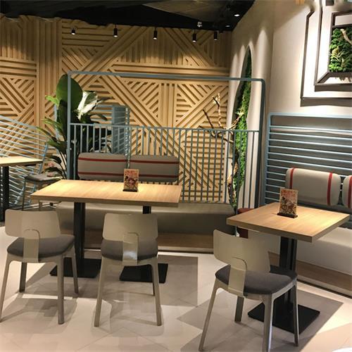 现代简约奶茶店快餐店西餐厅实木桌椅