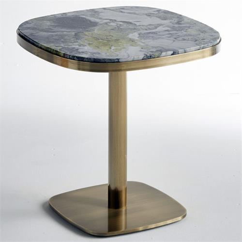 时尚西餐厅不锈钢轻奢西餐桌