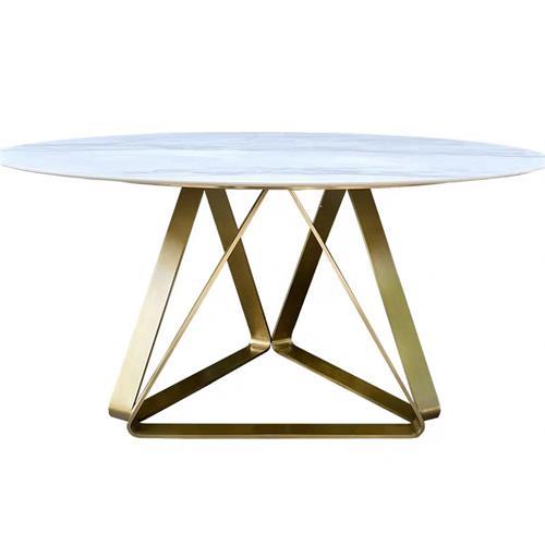 创意西餐厅天然大理石圆餐桌