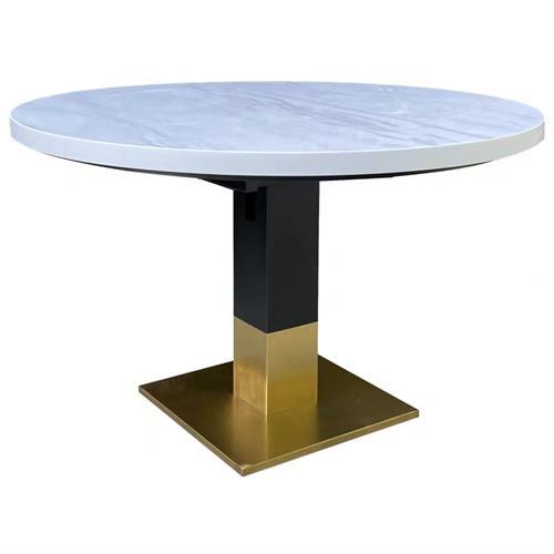 美式风格西餐厅铁艺西餐桌