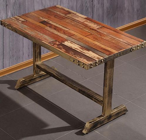 复古西餐桌椅_西餐厅方形实木餐桌-厂家定做直销