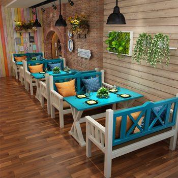 橡木胡桃色实木西餐桌西餐厅家具-厂家定制直销