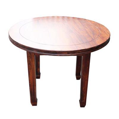 现代简约实木西餐厅圆餐桌