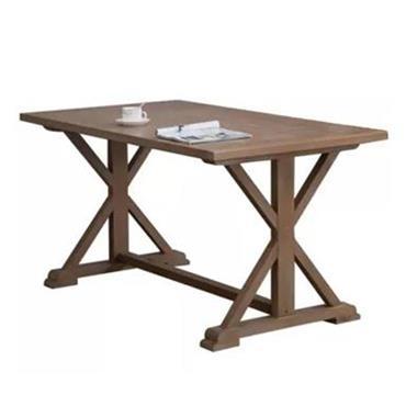 美式乡村实木餐桌 复古做旧西餐桌